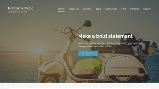 Lyrical Motor Scooters and Mopeds WordPress Theme