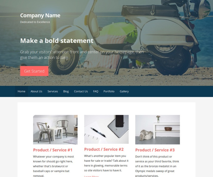 Primer Motor Scooters and Mopeds WordPress Theme