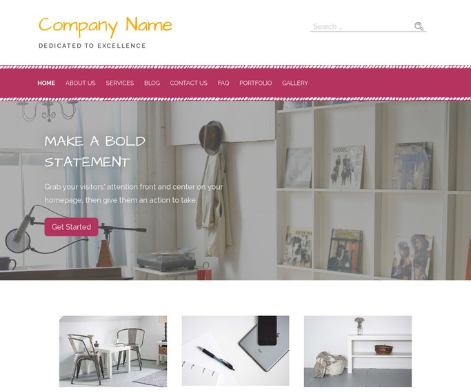Scribbles Shelving and Organization Supplies WordPress Theme