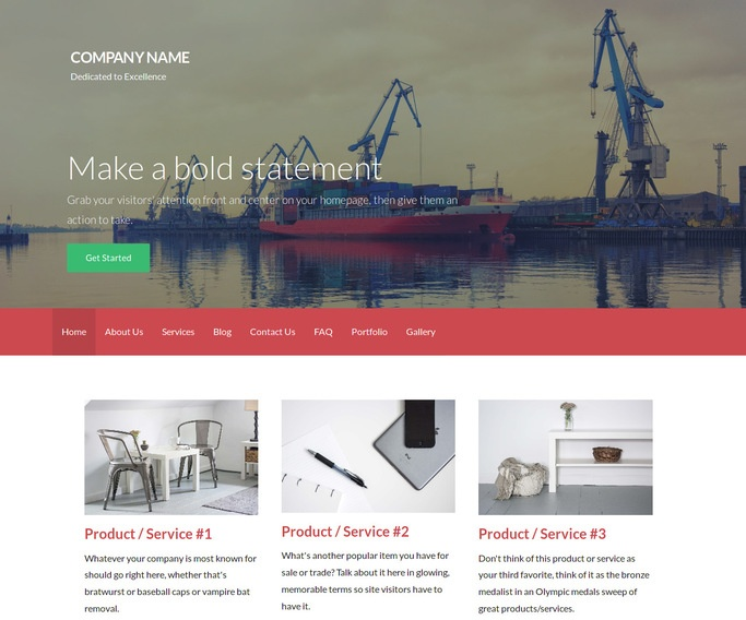 Activation Shipyard WordPress Theme