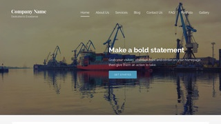 Lyrical Shipyard WordPress Theme