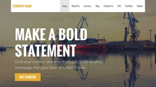 Stout Shipyard WordPress Theme