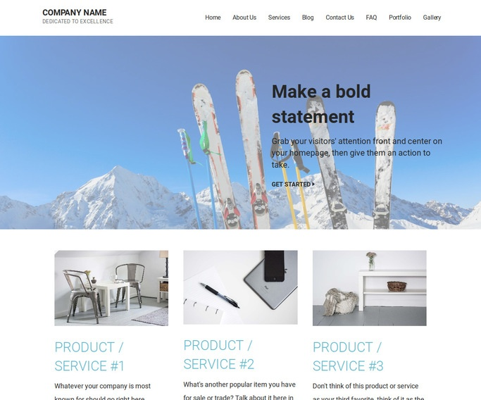 Mins Ski Resort WordPress Theme