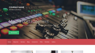 Activation Sound Production WordPress Theme