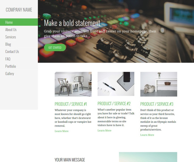 Escapade Sound Production WordPress Theme