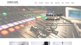 Mins Sound Production WordPress Theme
