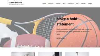 Mins Sports Equipment WordPress Theme
