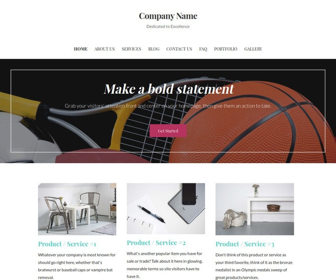 Uptown Style Sports Equipment WordPress Theme