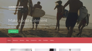 Activation Surfing WordPress Theme