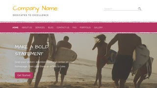 Scribbles Surfing WordPress Theme