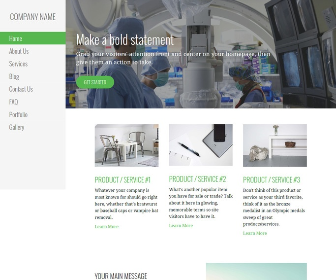 Escapade Surgical Appliances and Supplies WordPress Theme