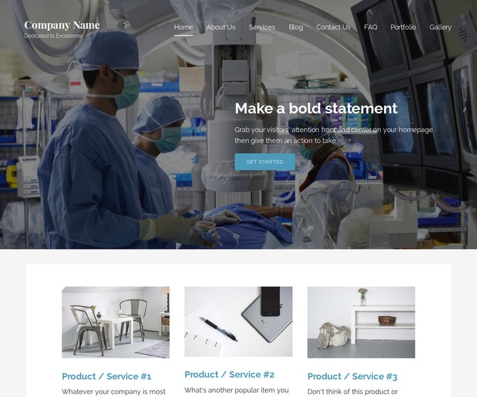 Lyrical Surgical Appliances and Supplies WordPress Theme
