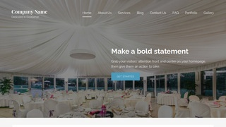Lyrical Table and Chair Rental Service WordPress Theme