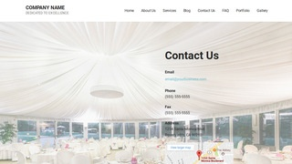Mins Table and Chair Rental Service WordPress Theme