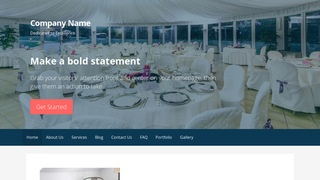 Primer Table and Chair Rental Service WordPress Theme