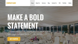 Stout Table and Chair Rental Service WordPress Theme