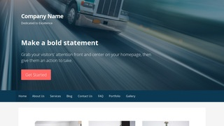 Primer Trucking School WordPress Theme