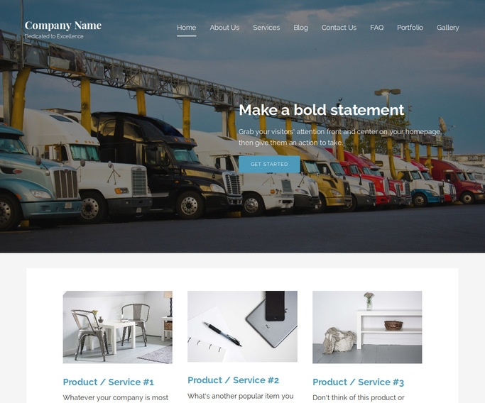 Lyrical Truck Stop WordPress Theme