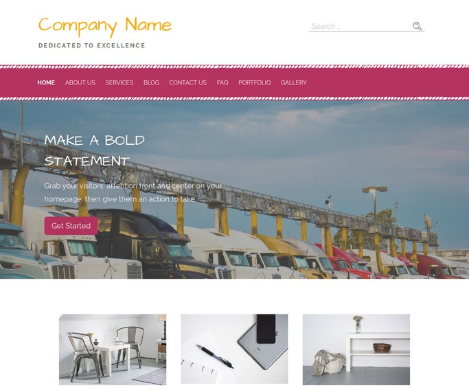 Scribbles Truck Stop WordPress Theme