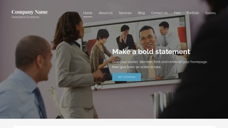 Lyrical Video Conferencing Service WordPress Theme