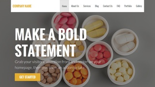 Stout Vitamin and Supplements WordPress Theme