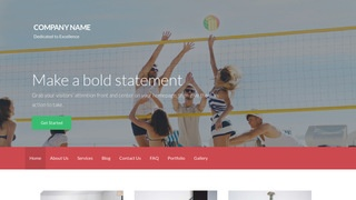 Activation Volleyball WordPress Theme
