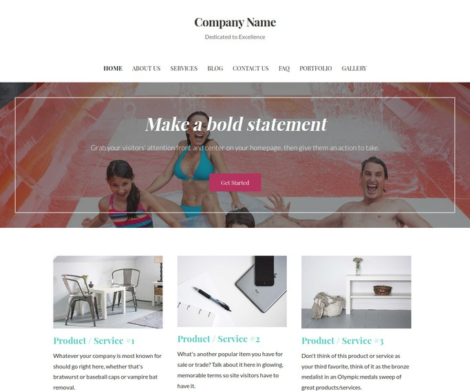 Uptown Style Water Park WordPress Theme