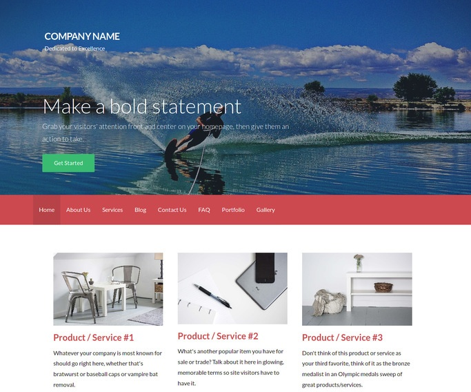 Activation Water Skiing WordPress Theme
