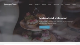Lyrical Wedding Cakes WordPress Theme