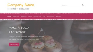 Scribbles Wedding Cakes WordPress Theme