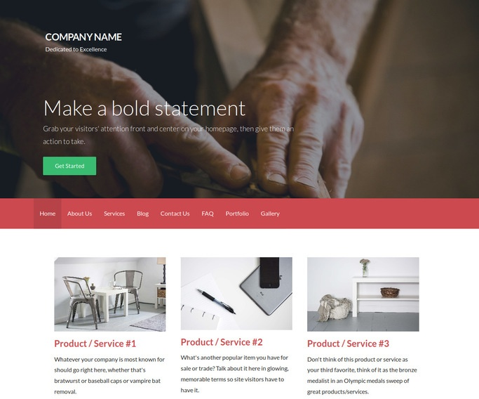 Activation Woodworker WordPress Theme