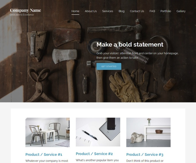 Lyrical Woodworking supplies WordPress Theme