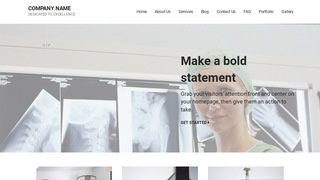 Mins X-Ray Lab WordPress Theme
