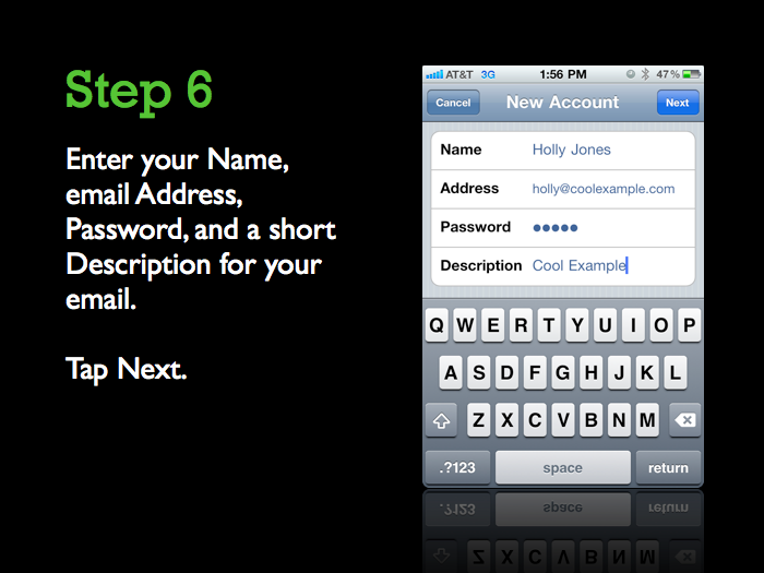 godaddy iphone email server settings