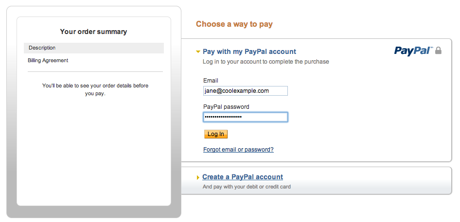 paypal login account