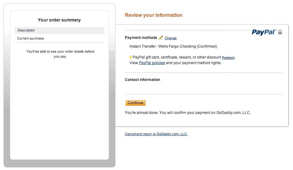 Add PayPal to my GoDaddy account | Account Management - GoDaddy ...