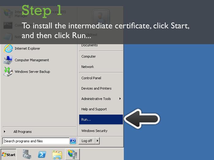 Installing An Ssl Certificate In Microsoft Iis 7