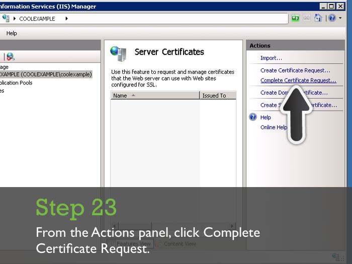 Installing An Ssl Certificate On Microsoft Iis 7
