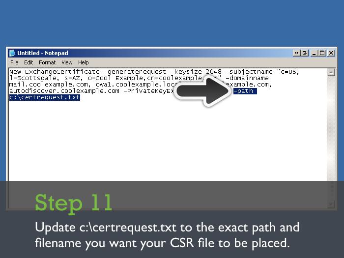 Generating Certificate Signing Request CSR-Exchange Server 2007