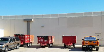 We service strip malls, contractors, big box stores