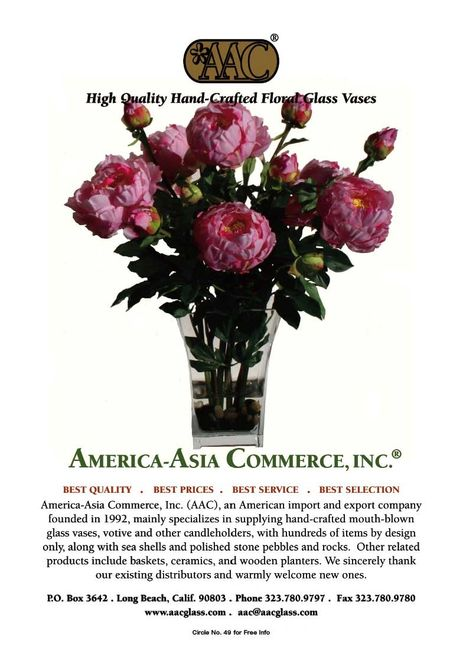 AAC's ad in Florists Review, April 2009.