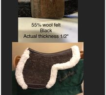 55% wool felt offers you an economical choice Easy care and still very beneficial
