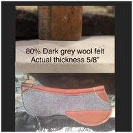 80% wool felt, holds its shape, easy clean and a high concussion absorption