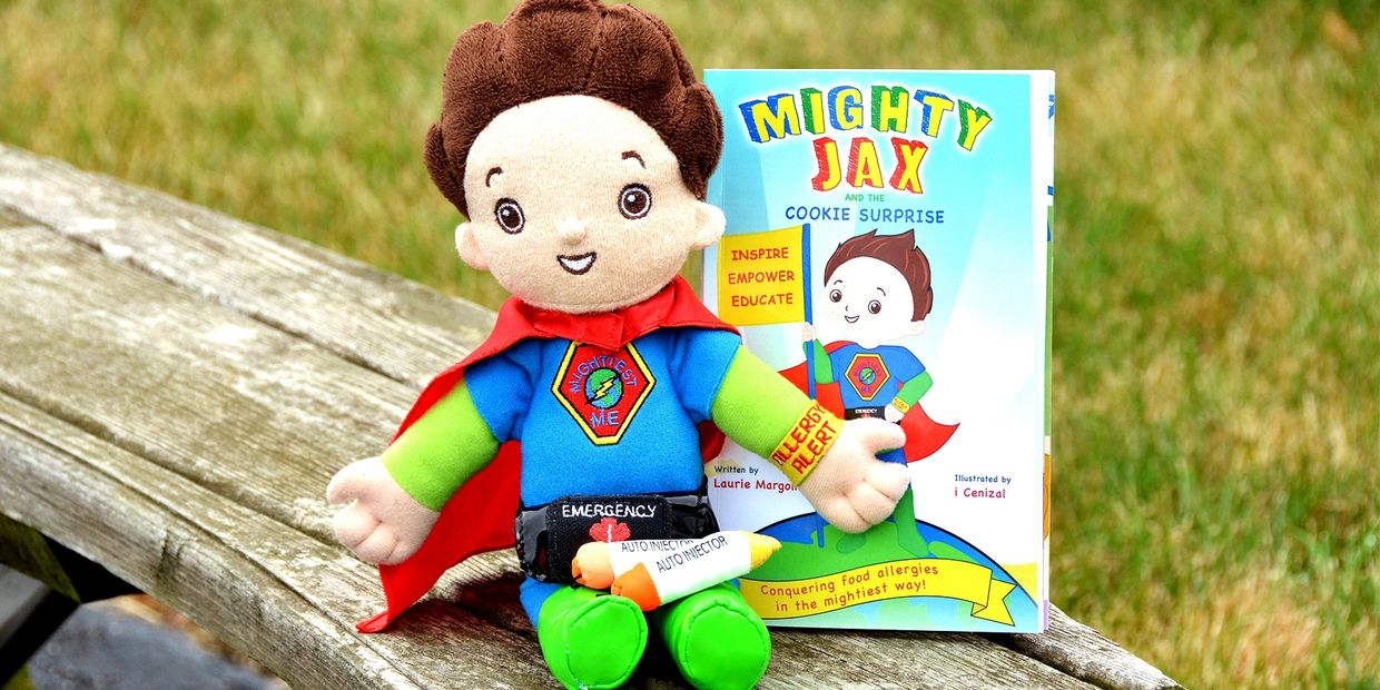 Mighties Me book and doll set. Help educate about food allergies!