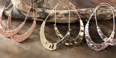 Tribal Hoops available in Rose Gold, Silver and Gold.