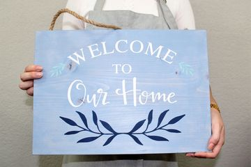 Welcome home sign  wow fun date night wine night Orlando Altamonte springs Apopka Wekiva Pine Hills