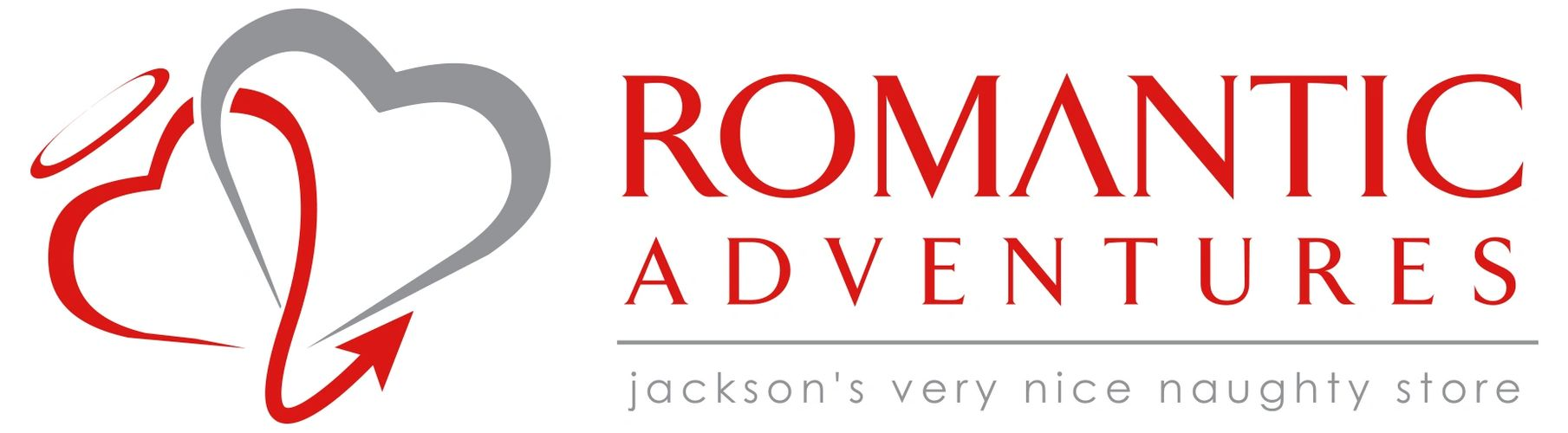 Romantic Adventures logo with 2 hearts