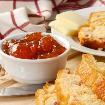 Use Peggy's Peppers Pepper Jelly as a dip or spread on toast