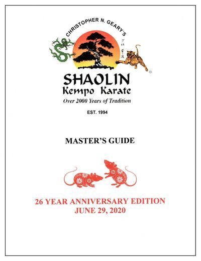 Geary's Kempo Karate Master's Guide.