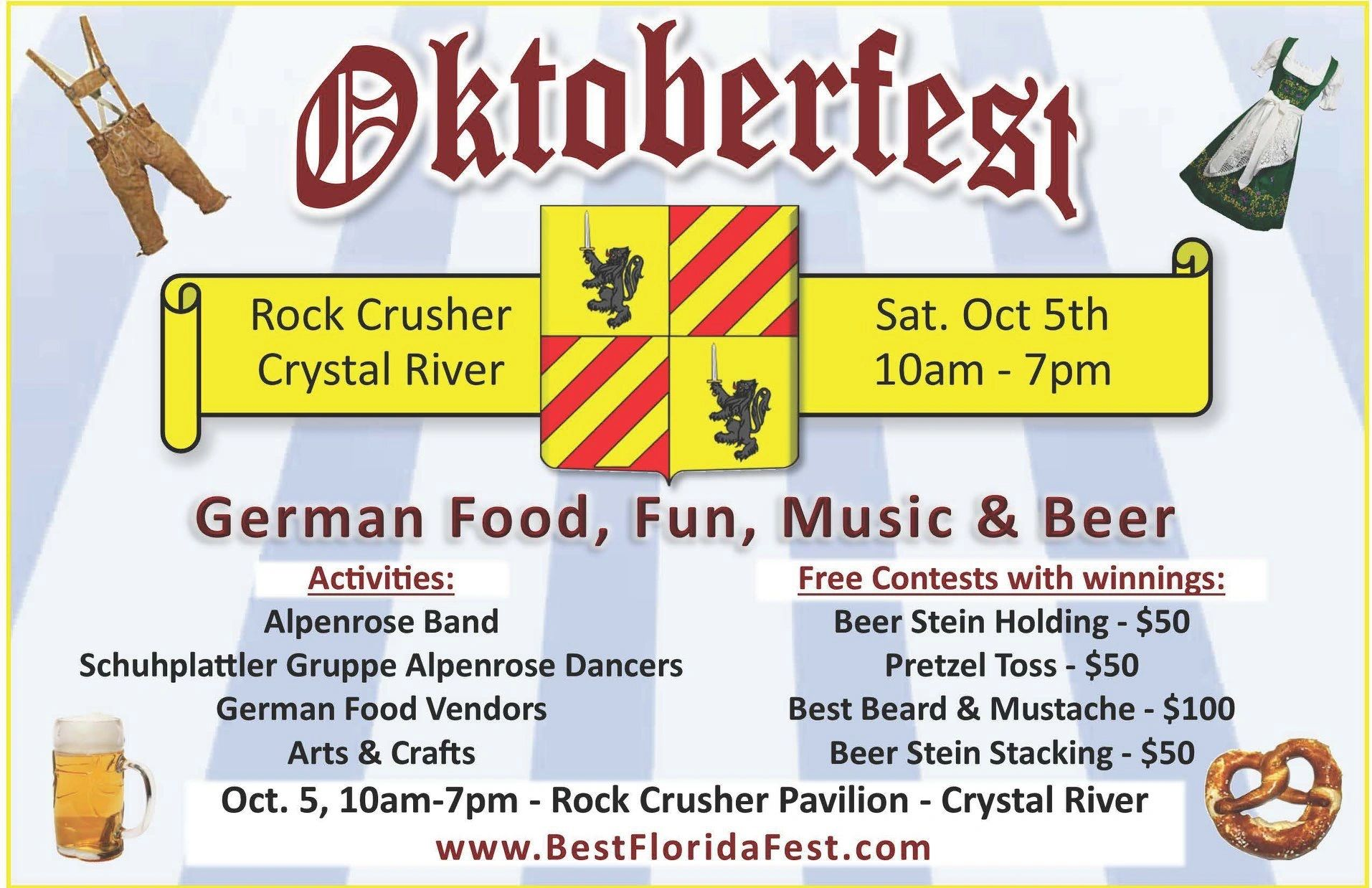 Oktoberfest, Saturday October 5, 2019 at Rock Crusher Canyon Pavilion